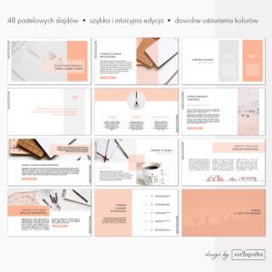 pastelowa prezentacja powerpoint