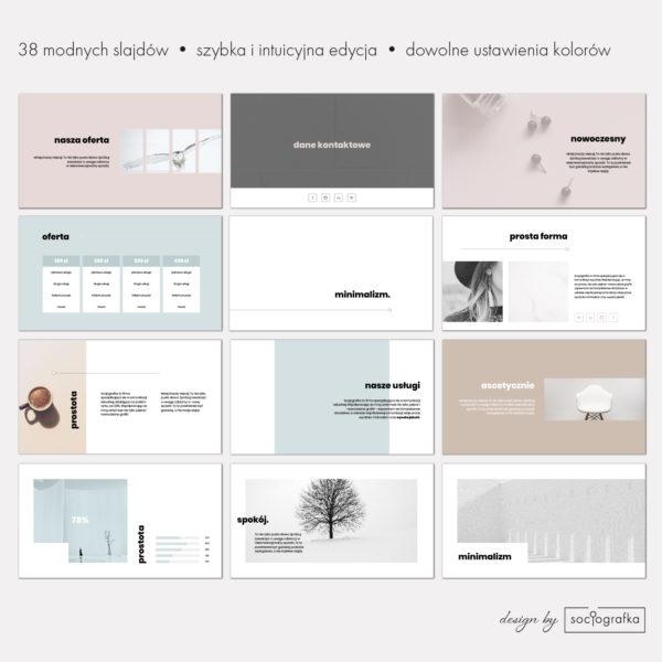 minimalizm prosta prezentacja powerpoint