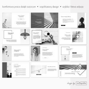 Czarno-biała prezentacja powerpoint