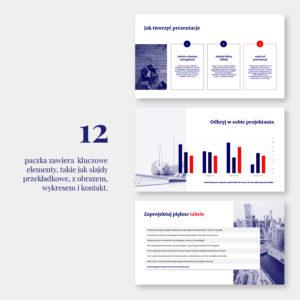 Czerwono-granatowy szablon PowerPoint